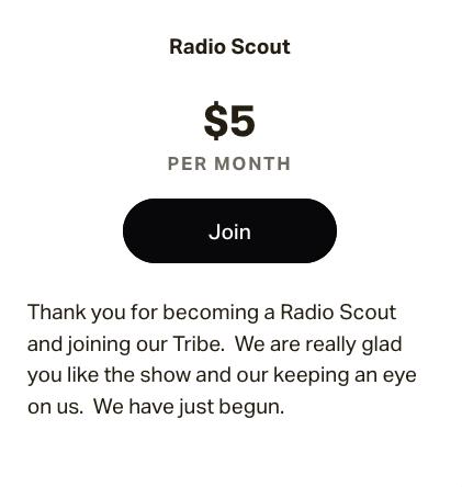 $5.00 membership