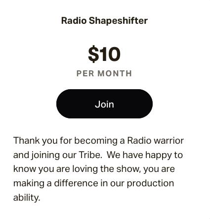 $10.00 membership
