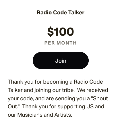 $100.00 membership
