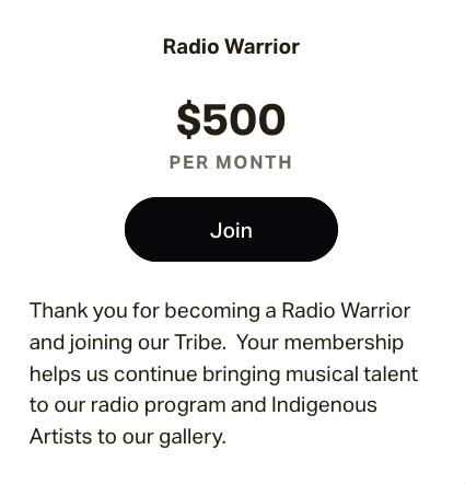 $500.00 membership
